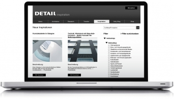 Online-Datenbank DETAIL inspiration. Jahres-Abo Regulär.