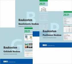 BKI Baukosten Neubau 2021. 3 Bände - Gesamtpaket mit ABO-Service.