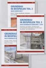 Grundbau in Beispielen Teil 1 - 3 nach Eurocode 7.  Gesamtpaket 3 Bände.